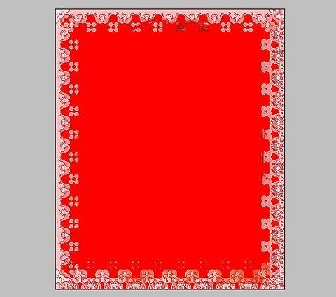 长方形红色边框素材